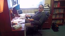 The Dwelling Place Photo Gallery: Pastor Ron in his office wondering why I\'m taking his photo...